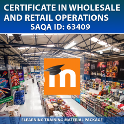 SAQA ID: 63409 Wholesale and Retail Operations - eLearning (Moodle) Format